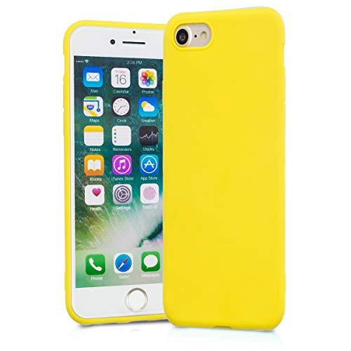 BESTCASESKIN Cover Compatibile con iPhone 6 Plus / 6S Plus Custodie Silicone Ultra Sottile [Colore Caramella] Morbido TPU Protettivo Gel Skin Case Anti-Impronte Digitali Protezione Caso, Giallo