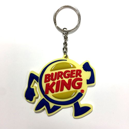 ラバーキーチェーン 【BurgerKing】バーガーキング キャラクター ロゴ 3D キーホルダー 並行輸入 アメリカン雑貨