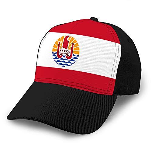 7 Gorra de béisbol con Visera Plana Impresa Snapback de Ocio para Mujer, Bandera de la Polinesia Francesa, Gorra de Hip Hop de Francia