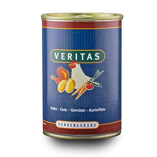 veritas Hundemenü Hundefutter nass – Gourmet Sorte Huhn Ente Gemüse Kartoffeln - Nassfutter für Erwachsene Hunde I Hundenassfutter (10x 400g)