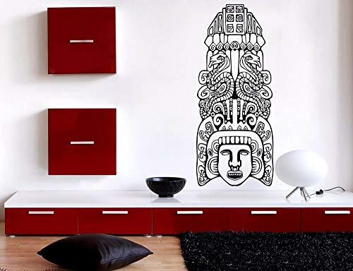 Lagre - Adhesivo decorativo para pared, diseño de totem azteca norteamericana