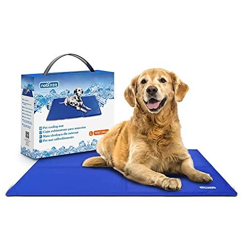 Nobleza – Alfombrilla refrescante para Mascotas Grandes. Auto refrigerante No tóxico. Ideal para para Perros, Gatos en Verano. 90 * 50 cm, Color Azul 🔥