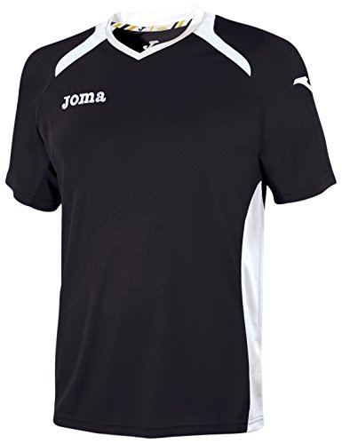 Joma 1196.98.010 - Camiseta de equipación de Manga Corta para Hombre, Color Negro/Blanco, Talla 2-4