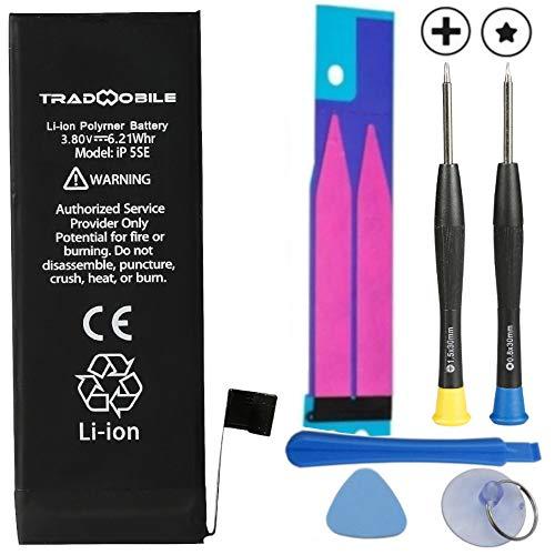 Kit Batterie Interne pour Iphone 5SE (1624 mAh) au Lithium Rechargeable Haute capacité Origine + kit démontage (Sticker Autocollant pour Coller la Batterie)
