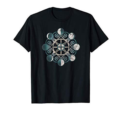 Fases lunares, tierra, símbolo, Wicca, paganismo, vintage Camiseta