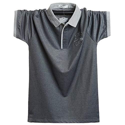 (Two Steps Behind) メンズ 半袖 ゴルフウェア ポロシャツ ビックサイズ ゆったり 大きいサイズ RE59 (XL,ダークグレー)