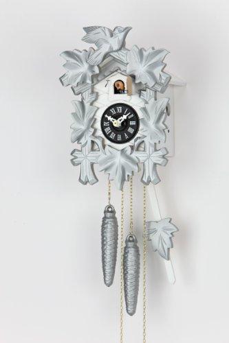 Kammerer Uhren Hekas Moderne Kuckucksuhr 1 Tag Werk KA 1606 silber