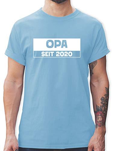 Opa - Opa seit 2020 weiß - L - Hellblau - l190_Shirt_Herren - L190 - Tshirt Herren und Männer T-Shirts