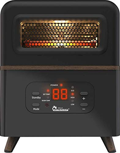 Dr Infrared Heater DR-978 Dual Heating Hybrid Space Heater, 1500W with remote , more Heat (Renewed)