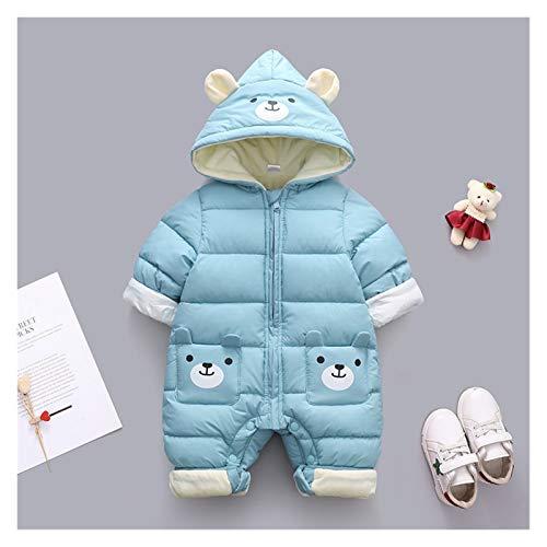 GuanRen New Born Panda Baby Ropa de bebé con Capucha de Invierno Mamelas de algodón Grueso Outfit de cálido Embalaje Mononsuit Niños Ropa de niño (Color : Azul, Size : 24M)