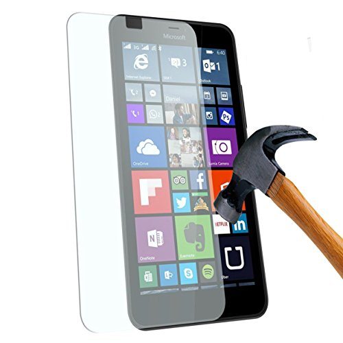 Microsoft Lumia 640 XL : Protection d'écran en verre trempé - Tempered glass Screen protector 9H premium / Films vitre Protecteur d'écran verre trempé nouveau (Nokia) Lumia 640XL smartphone 2015 - Version intégrale avec accessoires - Prix découverte Accessoires XEPTIO
