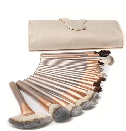 Make-up-Pinsel, BenRich 18-teiliges professionelles Make-up-Pinsel-Set aus synthetischem Gesicht,...