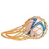 ZONSUSE Sac en Filet pour Ballon de Football, Sac de Ballon de Rugby, Sac de Filet de Volleyball, Sac Filet de Ballon, Basket-Ball ou Volley-Ball Nylon Idéal pour Transporter Votre Ballon