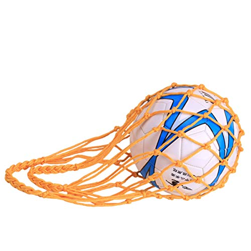 ZONSUSE Jiele Ballnetz, Netz Tasche, Balltasche aus Nylonnetz, für Fußball, Basketball, Volleyball, Rugbyball Balltragenetz Aufbewahrungstasche (Gelb)