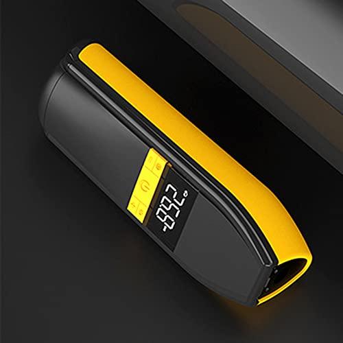 Compresor de aire 220v Compresor De Aire Portátil Es Adecuado Para Neumáticos De Automóviles, Inflectores De Mano Recargable De 6000mah, Pantalla De Aire Eléctrico De Pantalla Digital (Color:amarillo)