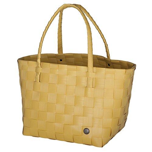 Unek Goods Handded By Paris Sac fourre-tout recyclé réutilisable fait main - - moutarde,
