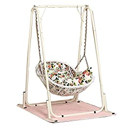 Chaise à Bascule Berceau Chaise Adulte Enfants inclinable Net célébrité Nordique hamac Balcon Maison Loisirs rotin…