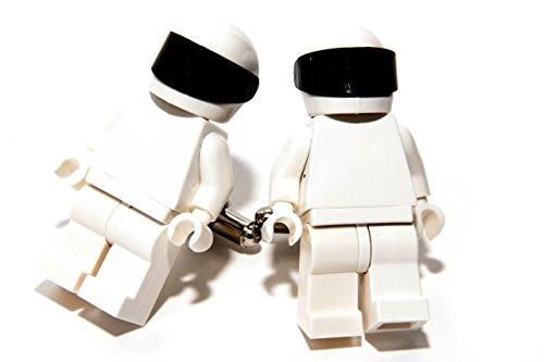 Jeff Jeffers Customs Lego Stig Boutons de manchette Boutons de manchette dans boîte cadeau de présentation