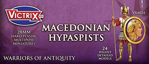 Victrix VXA021 - Hipaspistas Macedonios - Conjunto De 27 Figuras - Miniaturas De Plástico De 28 mm - Guerrero De La Antigüedad