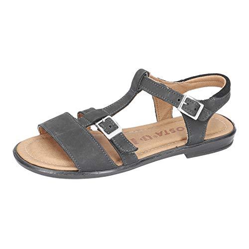 RICOSTA Niñas Sandalias de Vestir KALJA, Chica Sandalia con Tiras,Sandalias Romanas,Zapatos del Verano,Anchura: Normal (WMS),Schwarz,33 EU / 1 UK
