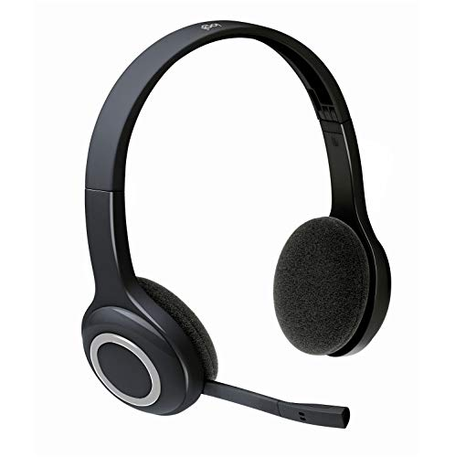Logitech H600 Wireless Headset, Stereo Headphones with Rotating Noise-Cancelling Microphone, USB Nano-Receiver, Foldable, Long Battery Life, PC/Mac/Laptop - Black