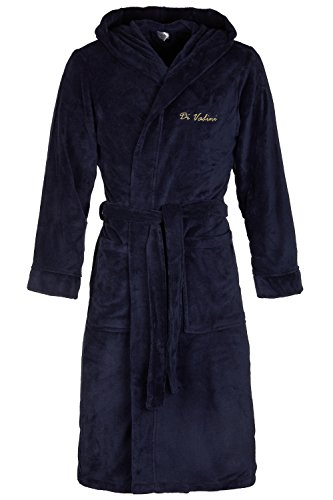 Di Vadini DV-01 Unisex Bademantel Navy-Gold Gr. XL