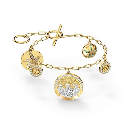 Swarovski Braccialetto Shine Coins, Multicolore Chiaro, Placcato Colore Oro