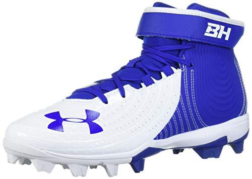 Under Armour Men's Harper 4 Mid RM Baseball Shoe, Royal (400)/White, 12.5