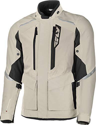 FLY Racing Terra Trek Adventure Motorcycle Jacket, Protective Motorcycle Gear with Body Armor (SAND/BLACK, LG)