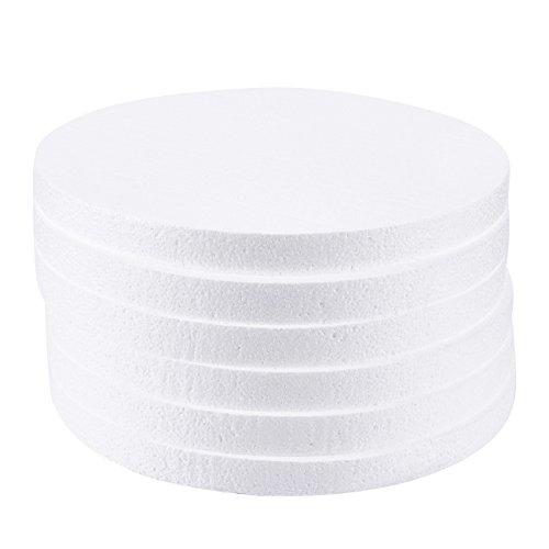 Círculos de espuma, suministros para artes y manualidades (12 x 12 x 1 pulgada, 6 unidades)