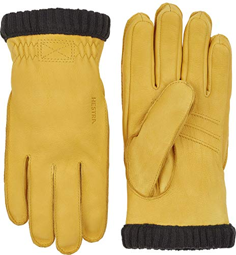 HESTRA Handschuhe Deerskin Prima Ribbed gelb (510) 10