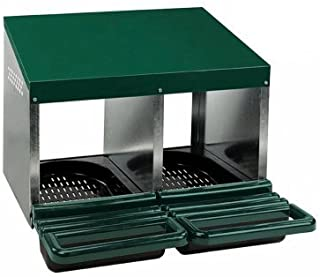Homestead Essentials Roll Out Poultry Nesting Box for Chickens - 2 Compartment