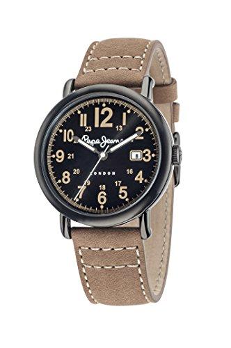 Pepe Jeans Reloj Analógico para Hombre de Cuarzo con Correa en Cuero R2351105004