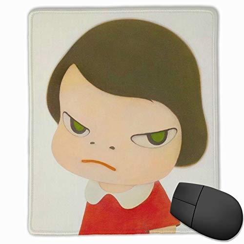 Faizash Mouse Pad-Yoshitomo Nara Computer Mouse Pad with Non-Slip Rubber Base and Alternative Anti-Wear Edges,Premium-Textured Mouse Pad,Mouse Pads for Computers,Laptop,Gaming,Office & Home