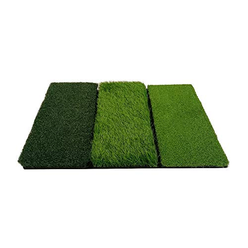 Photo of Swing Golf Mat 3 in 1 Tri Turf Portable Practice Golfing Mat 3 Turf Folding Astro Grass Mat Indoor Outdoor