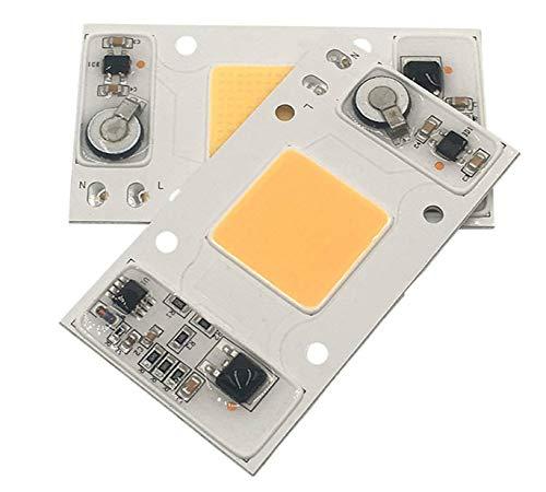 Smart Light LED-Lampe, AC 220 V, Vollspektrum, treiberlos, für Pflanzenwachstum, Flutlichter, Smart Light, 2 Stück