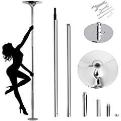 ✨Spinning or Static - Choose Your Style: Amzdeal dancing pole integrated all new design enables users to use the pole' s spinning mode or lock it up to use the pole in static mode. Adjust the bottom screw to switch between spinning mode and static mo...
