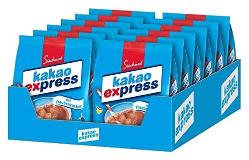 Suchard Kakao Express - Getränkepulver mit Schokoladen-Geschmack - Nachfüllbeutel - 12 x 500g