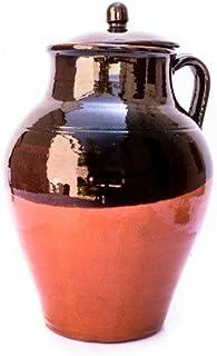Colì Maioliche e Terrecotte dal 1650 Pignata Rustica con Coperchio Terracotta, Marrone Altezza Altezza 28