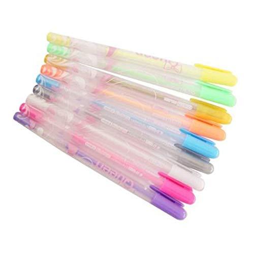 Hellery 12 colores coloridos bolígrafos de gel lindos arte dibujo tinta graffiti contabilidad contabilidad oficina bolígrafos suministros