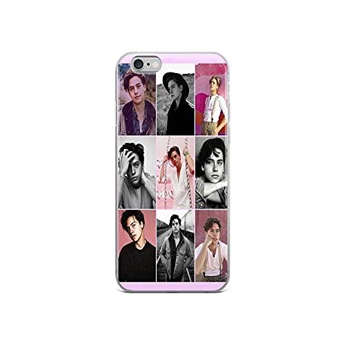 Funda personalizada compatible con Cole Samsung Sprouse iPhone Rosa 12/11 Aesthetic Pro Collage Max 12 Mini SE X/XS Max XR 8 7 6 S Plus Funda TPU Clear Slim Fit Fundas de goma