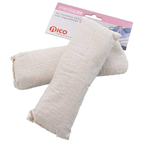 nico Cedar Säckchen mit Spänen aus Zedernholz, 2er Set, Universalgröße für frische Schuhe und als Mottenschutz, 1er Pack (1 x 2 Stück)