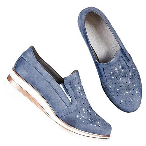Watkings Slip-on sneakers voor dames, voor wandelen, strand, vrijetijdsschoenen