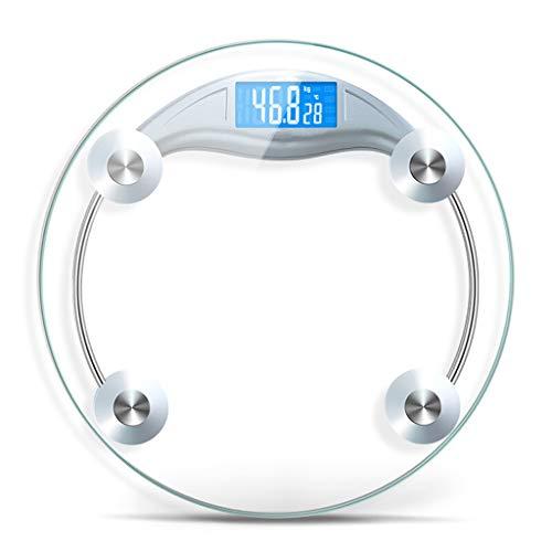 Schalen Huishoudelijke Glas Elektronische weegschalen Gewichtmeting genoemd Ronde Lichtgevende Display Kan worden aangesloten op Mobiele telefoons Badkamer Schaal