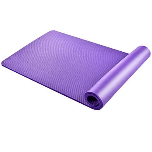 Esterilla de yoga, respetuosa con el medio ambiente, NBR, antideslizante con correas de yoga, pilates y gimnasia, 183 x 60 x 1 cm.