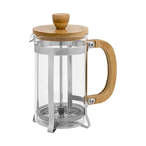 Brandani 53109infusore in vetro Bamboo 600ml, multicolore