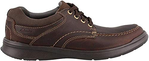 Clarks Men's Cotrell Edge Oxford, Brown Oily Leather, 9.5 M US