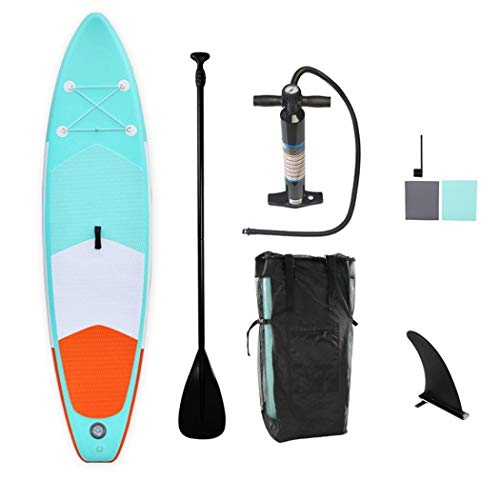AYES Tabla de surf inflable para adultos y adolescentes con accesorios SUP, bolsa de transporte, aletas, kit de reparación