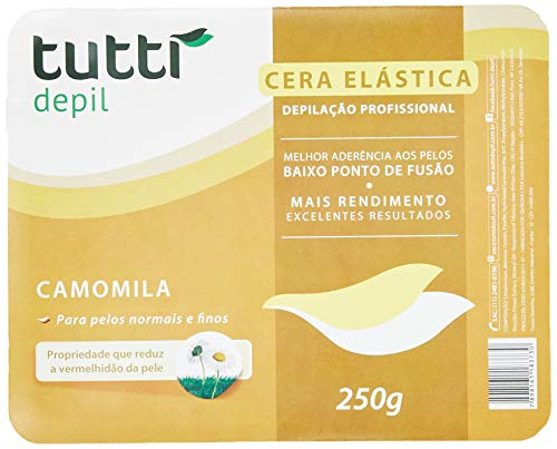 Cera Depilatória Camomila, Tutti Depil, 1013, Amarelo