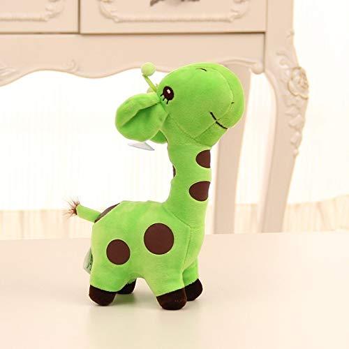N/D Netter 18cm Unisex Geschenk Plüsch Giraffe Stofftier Tier Lieber Puppe-Kind-Kind Weihnachten Geburtstag Glücklicher Bunte Geschenke (Color : Green)
